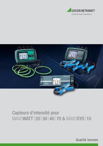 Capteurs d'intensité pour MAVOWATT20304070 & MAVOSYS10