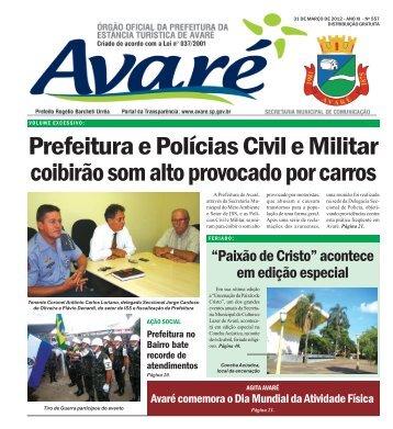edição 557 - Câmara Municipal da Estância Turística de Avaré ...