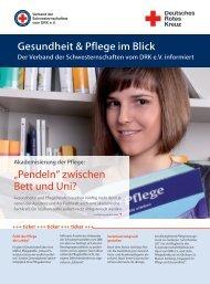 Gesundheit & Pflege im Blick Der Verband der Schwesternschaften ...