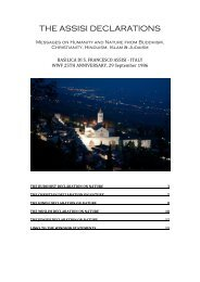 the assisi declarations - Alliance of Religions and Conservation