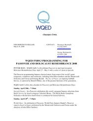 wqed fm89.3 programming for passover and holocaust ...