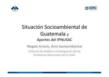 Situación Socioambiental de Guatemala y - Usac