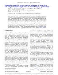 Propagation lengths of surface plasmon polaritons on metal films ...