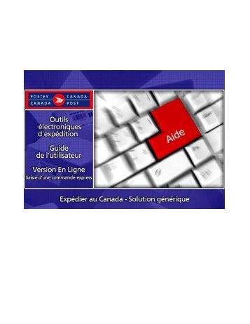 Postes Canada – OEE Saisie de commande express ... - Canada Post