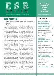 ESR Review Volume 9 No 4 - November 2008 - Community Law ...