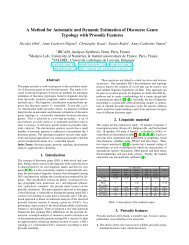 A Method for Automatic and Dynamic Estimation of Discourse Genre ...