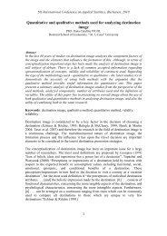 Quantitative and qualitative methods used for analyzing destination ...