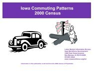 Iowa Commuting Patterns 2000 - Iowa Workforce Development