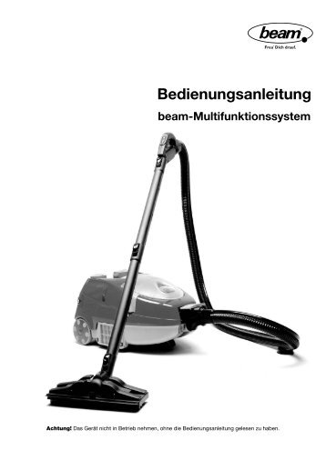 Bedienungsanleitung Multi (PDF ca. 1 MB) - beam Dampfsauger