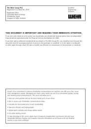 THIS DOCUMENT IS IMPORTANT AND ... - The Weir Group