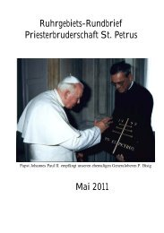 Bitte hier klicken - Priesterbruderschaft St. Petrus