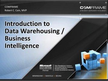 Introduction to Data Warehousing / Business Intelligence