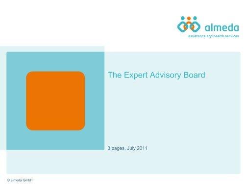 Quality assurance by the expert advisory board - Almeda