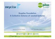 Ecopilas Foundation A Collective Scheme of wasted batteries