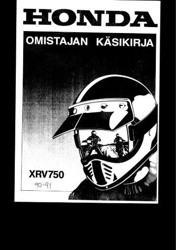 XRV750 1990-91 käsikirja (.pdf, 2.30 MB) - Honda