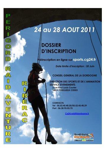 dossier d'inscription 2011 def.rtf - Sports CG24 - Conseil général de ...