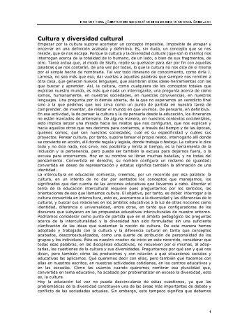 Cultura y diversidad cultural - Terras.edu.ar