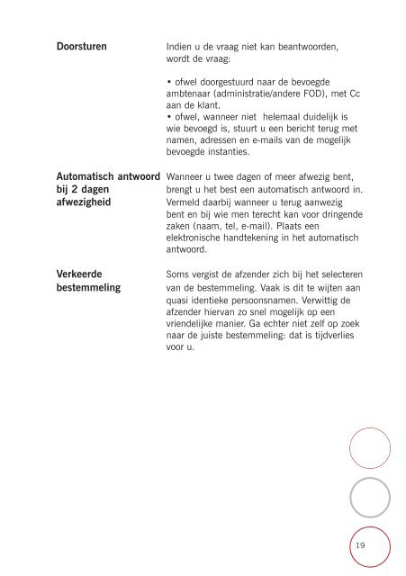 Brochure Courrier N - Fedweb - Belgium
