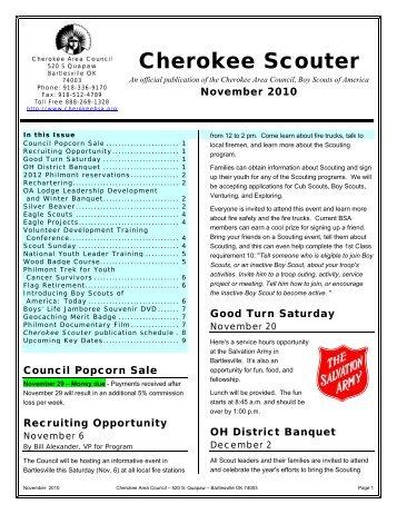 November 2010 - Cherokee Area Council