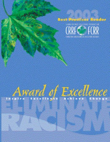 Award of Excellence - Canadian Race Relations Foundation