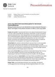 Pressemitteilung (PDF) - Jones Lang LaSalle