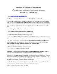 Instructions for Submitting an Abstract for the 9th Annual AAMC ...