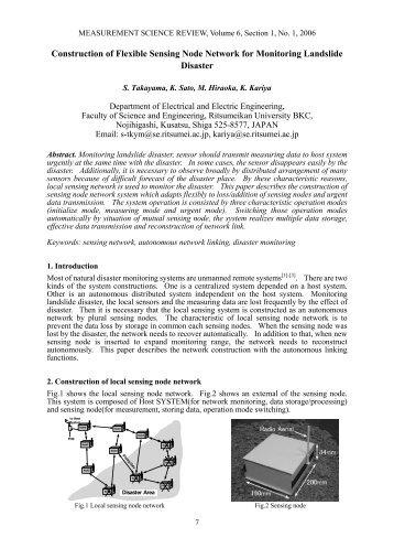 Construction of Flexible Sensing Node Network for Monitoring ...