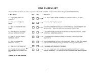 DSE Checklist (PDF 26KB)