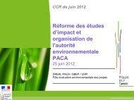 Réforme des études d'impact et organisation de l'autorité ... - CoTITA