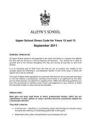 Upper School Dress Code For Years 12 And - Alleyn's School