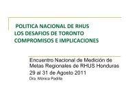 Políticas Nacionales de RHUS. Los desafíos de Toronto ...