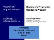 Prescription drug abuse trends Minnesota's Prescription Monitoring ...