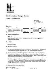 Bebauungsplan und örtliche Bauvorschriften '5 ... - Stadt Ehingen