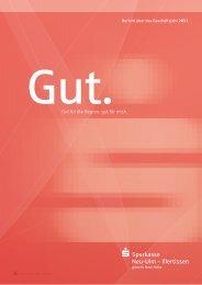 Jahresbericht 2011 - Sparkasse Neu-Ulm - Illertissen