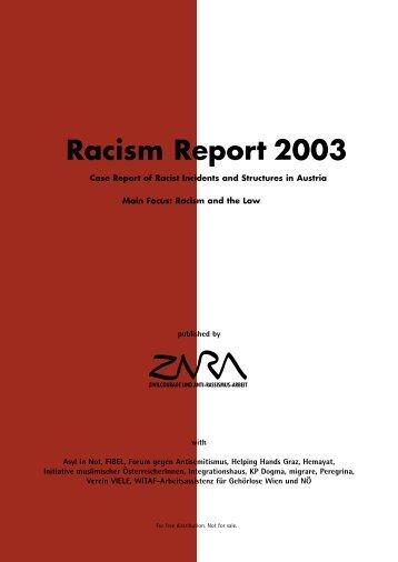 Racism Report 2003 - Zara