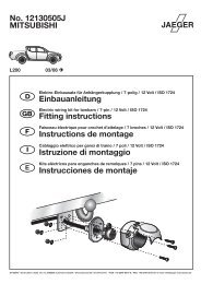 MITSUBISHI No. 12130505J Einbauanleitung Fitting instructions ...