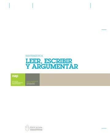 LEER, ESCRIBIR Y ARGUMENTAR - Escritorio de Educación Rural