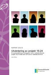 Utvärdering av projekt 16-24 - FoU Västernorrland