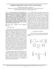 Optimum Compensation To Improve EHV Line performance