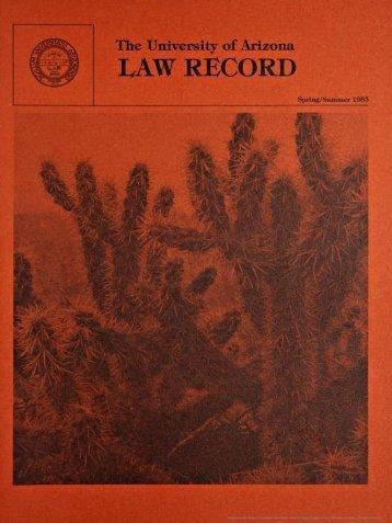 ·LAW RECORD - College of Law - University of Arizona