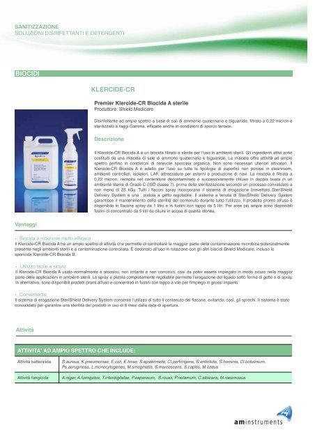 biocida A sterile - AM Instruments