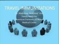 TRAVEL IMMUNIZATIONS