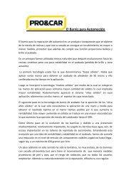 PRO&CAR - El Barniz para Automoción - El Chapista