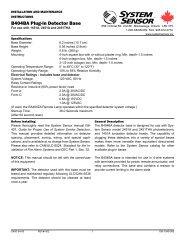 B404BA Plug-in Detector Base - System Sensor Canada