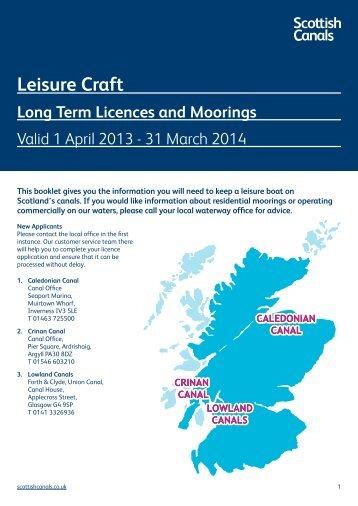 Leisure Craft - Scottish Canals