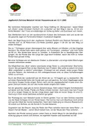 Jagdbericht Schloss Meisdorf - Cattenstedter Parforcejagd