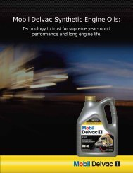 Mobil Delvac Synthetic Engine Oils: - Mobil™ in Canada