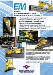 modules electromagnetiques pour manutention de bottes d'acier