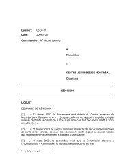 X c. Centre jeunesse de Montréal - Commission d'accès à l ...