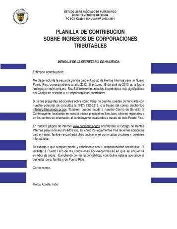 2012 - Departamento de Hacienda - Gobierno de Puerto Rico